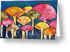 Gathering Of The Colors Greeting Card