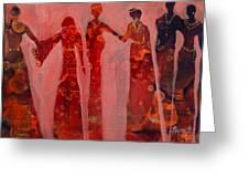 Gathering Of Women Greeting Card