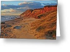 Gayhead Cliffs Marthas Vineyard Greeting Card