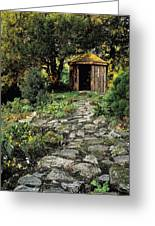 Gazebo And Path, Ballinlough Castle, Co Greeting Card