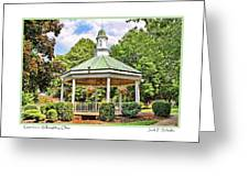 Gazebo In Willoughby Ohio Greeting Card