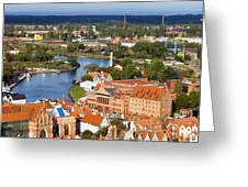 Gdansk Cityscape Greeting Card