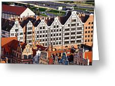 Gdansk Granaries Greeting Card