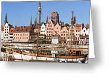 Gdansk In Poland Greeting Card