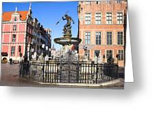 Gdansk Old City In Poland Greeting Card