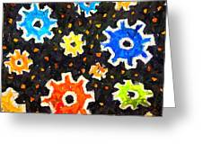 Gears In Motion Greeting Card