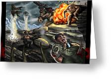 Gears Of War Battle Greeting Card