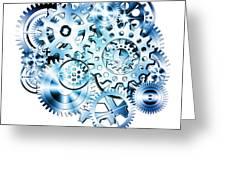 Gears Wheels Design  Greeting Card