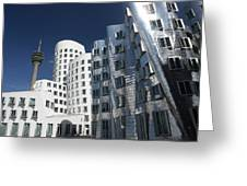 Gehry's Der Neue Zollhof Buildings Greeting Card