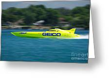 Geico Offshore Racer Greeting Card