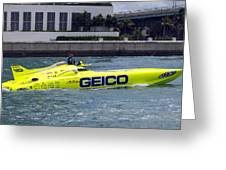 Geico Race Boat Greeting Card