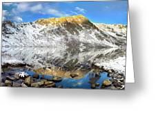 Geissler Mountain In Linkins Lake Greeting Card