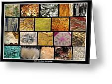 Gemstones And More Collage Greeting Card