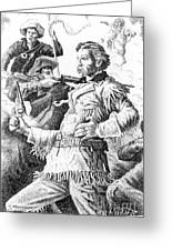 General Custer's Last Stand Greeting Card by Gordon Punt