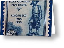 General Kosciuszko Postage Stamp Greeting Card