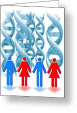 Genetic Sexuality Greeting Card by Victor Habbick Visions