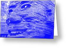 Gentle Giant In Negative Blue Greeting Card