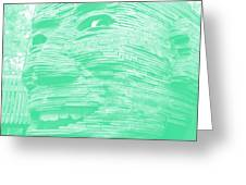 Gentle Giant In Negative Green Greeting Card