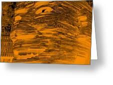 Gentle Giant In Negative Orange Greeting Card