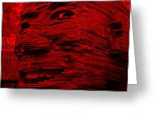 Gentle Giant In Red Greeting Card