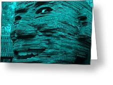 Gentle Giant In Turquois Greeting Card