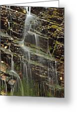 Gentle Waterfall In Glacier National Park Greeting Card