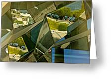 Geometric Reflections Greeting Card