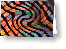 Geometrical Colors And Shapes 2 Greeting Card