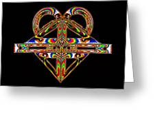 Geometry Mask Greeting Card