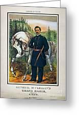 George B. Mcclellan, 1864 Greeting Card