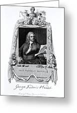 George Frideric Handel, German Baroque Greeting Card by Omikron
