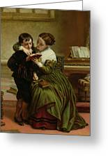 George Herbert And His Mother Greeting Card