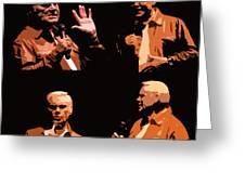 George Jones Concert Collage Greeting Card