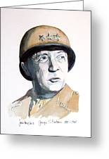 George S Patton Greeting Card