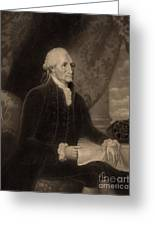 George Washington, 1st American Greeting Card