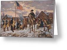 George Washington At Valley Forge Greeting Card