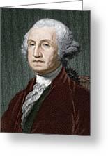 George Washington, First Us President Greeting Card