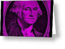 George Washington In Purple Greeting Card