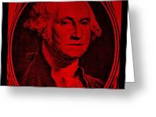 George Washington In Red Greeting Card