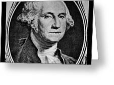 George Washington In White Greeting Card