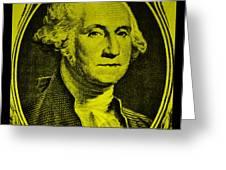 George Washington In Yellow Greeting Card