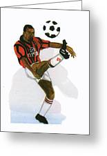 George Weah In Action Greeting Card
