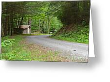 Georgia Mountain Road Greeting Card