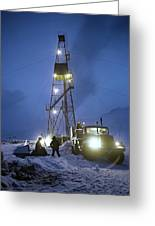 Geothermal Power Station Drilling Greeting Card