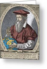 Gerardus Mercator, Flemish Cartographer Greeting Card