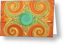 Gerbera Abstract Greeting Card