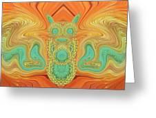 Gerbera Bird Abstract Greeting Card