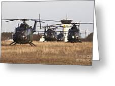 German Army Bo-105 Helicopters, Stendal Greeting Card