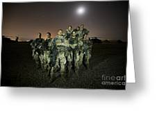 German Army Crew Poses Greeting Card