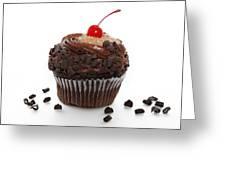 German Chocolate Cupcake Greeting Card